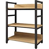 3-Shelf Wandrek, Printer Plank, Tot 200 Kg - Book Shelf Grond Slaapkamer Eenvoudig Massief Houten Multi-layer…
