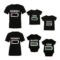 Upxiang Mère Fille Père Fils Vêtements Famille Matching Tenues Chemisier Manches Courtes T-Shirt Blouse Parent-Enfant Clothes