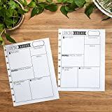 Looking Ahead Monthly Reflection Insert for Letter Sized Disc-Bound Planners, Fits 8.5''x11'' Happy Planner, Levenger Circa, Staples Arc Systems, 1 Year Supply