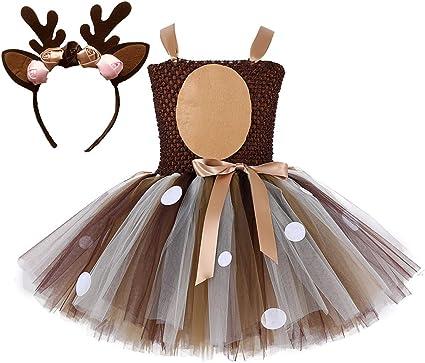 Colorfog - Disfraz de Princesa de Ciervos para niñas, Disfraz de ...