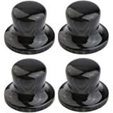 KAISH 4-Pack Wood Knobs Bell Knobs Guitar Bass Top Hat Wood Knobs For Metric Pots Compressed Wood