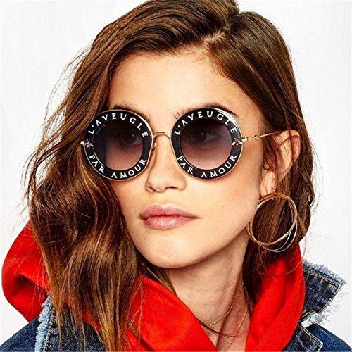 Lunettes De Soleil Rondes, La Femme De Lettres Mode RéTro Vintage Abeille Cercle Lunettes Eyewear B