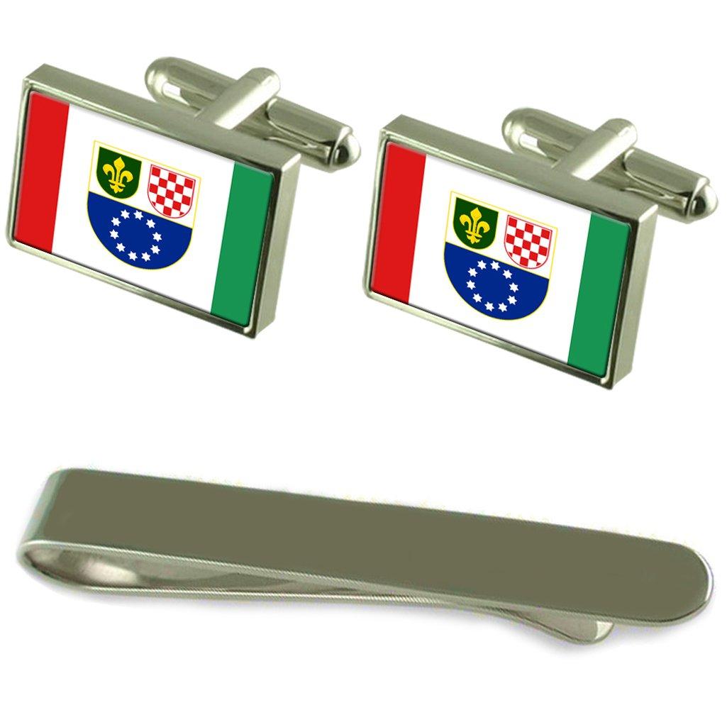 Select Gifts Federación Bosnio-Croata Bandera Gemelos Plata Clip ...