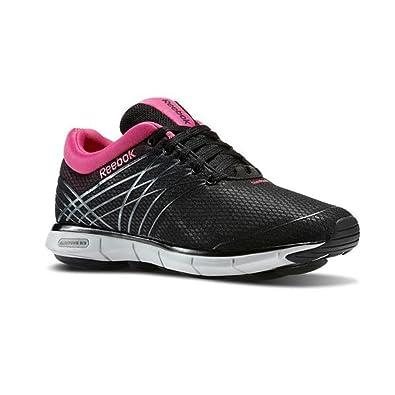 Reebok Easytone 6 Trainers Ladies Shoes Women's Walking Fitness Black and Pink[UK