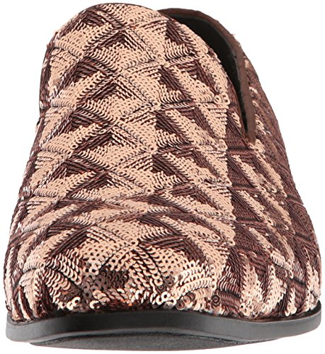 Stacy Adams Mens Swank Sequined Slip-on Driving Style Mocassino Rosa Sfumato