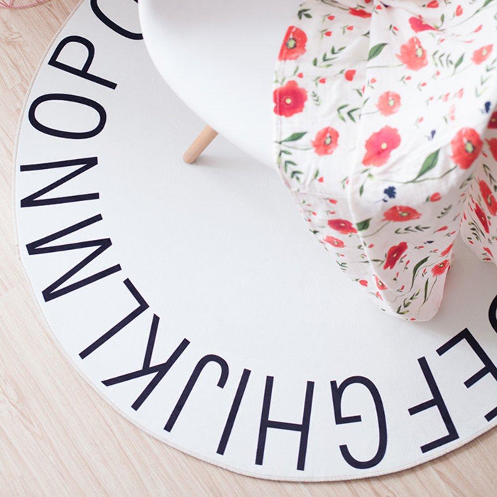 【感謝価格】 子どもたちの部屋のカーペット,ノンスリップ厚くカーペット 赤ちゃんマットをクロール 英語のアルファベットの円形の床のマット 直径 A 120 直径 cm-D B07D5SHJ47 B07D5SHJ47 A A, ベリーズマリン:c93b52f9 --- mcrisartesanato.com.br