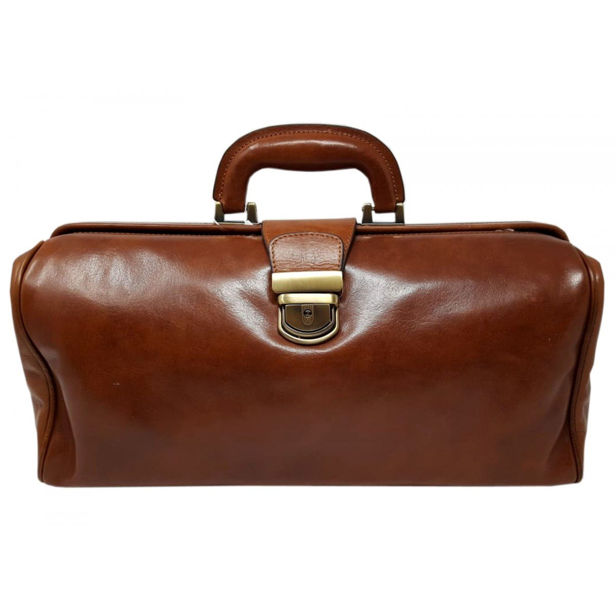 Made In Italy Genuine Leather Doctor's Bag Color Brown - Business Bag B014T6GYR8