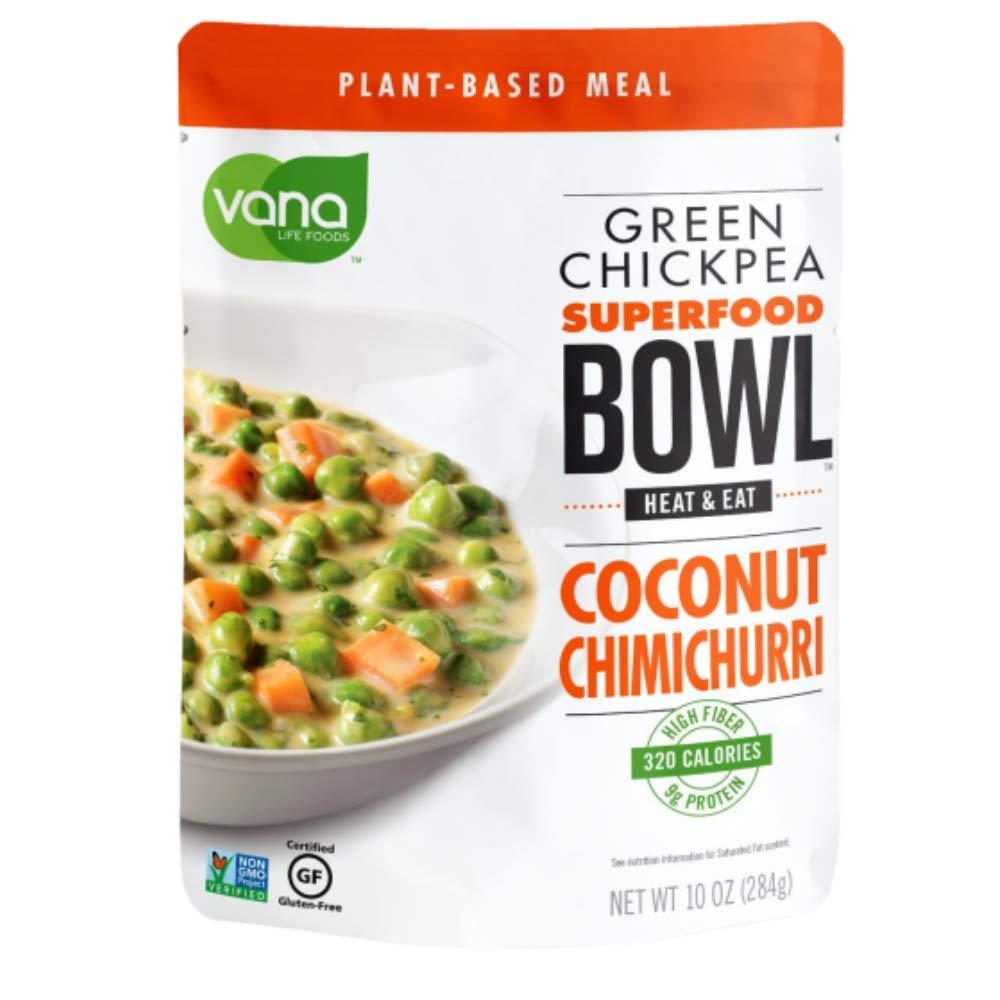 Vana Life Foods Lp Green Chickpeas, Chimichurri, 10 Ounce