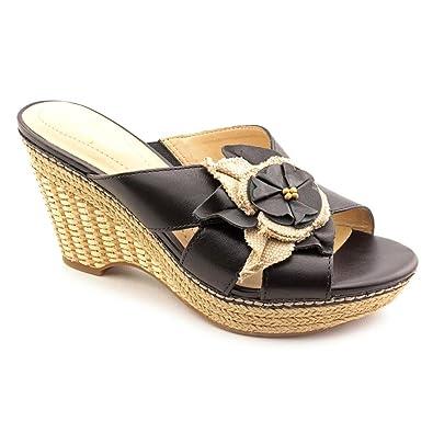 b2378448ac9987 Naturalizer Lila Womens Black Narrow Wedge Sandals Shoes New Display UK 7   Amazon.co.uk  Shoes   Bags