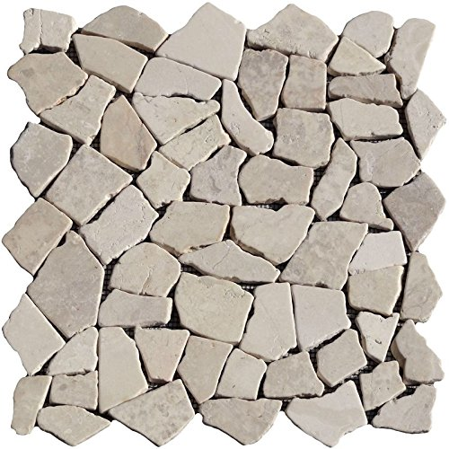 1 x Power Mosaic Cream Limestone Marble Beige Raumdesign Heilbronn