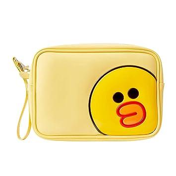 Amazon.com: Bolsa de cosméticos esmaltada Line Friends ...