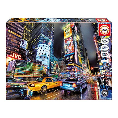 Traditional Costumes All Around The World - Educa Times Square New York Puzzle (1000 Piece), One Color