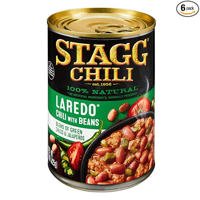 Stagg Laredo Chili With Beans 15 Ounce Pack Of 6
