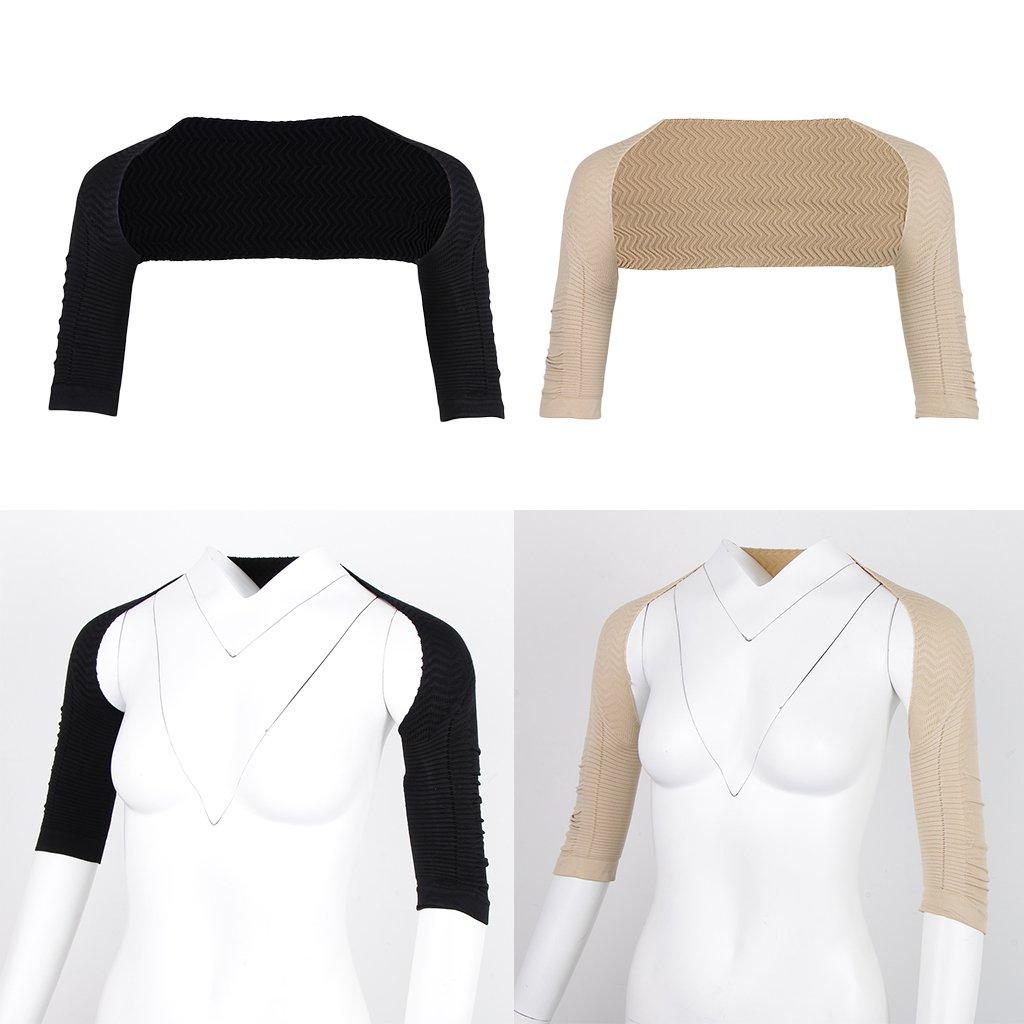 D DOLITY Shapewear para Hombro Hombro Brazo Playa Mujeres Adelgazar Camiseta Manga Larga Camisa Ropa