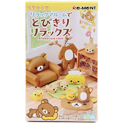 Rilakkuma Relax Bear Room Furniture Furnishings Mini Miniature - 1 of 8 Rooms/Themes Blind Box: Toys & Games