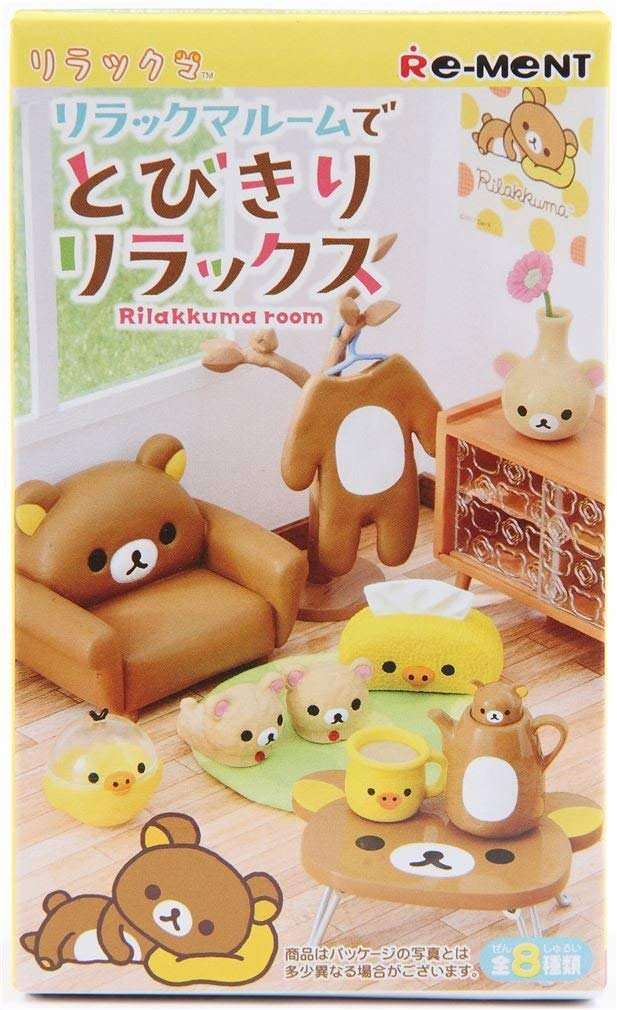 Rilakkuma Relax Bear Room Furniture Furnishings Mini Miniature - 1 of 8 Rooms/Themes Blind Box by Re-Ment