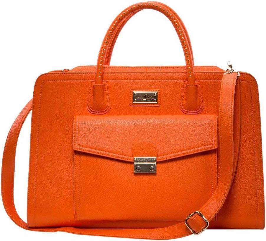 "Sandy Lisa Portofino Shoulder Bag Notebook Carrying Case 15.6"", Orange (SLPOR-SBOR-14)"