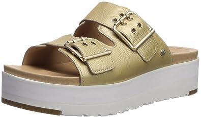 7780b91b1981 UGG Women s Cammie Metallic Wedge Sandal Gold 10 ...
