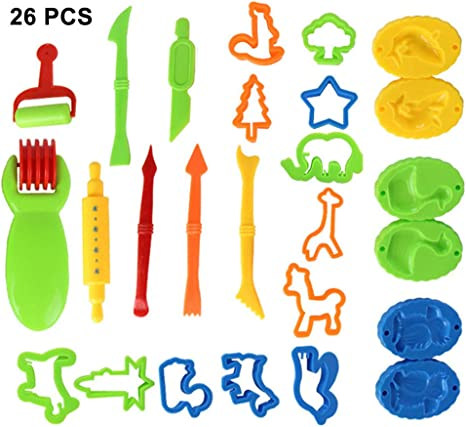 26 Pcs Play Doh Kids Tools Set Modelling Craft Play Dough Mould Mold Toy Cutters