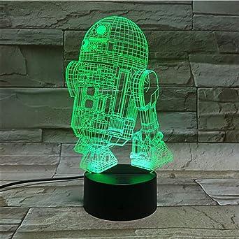 orangeww Robot R2D2 Night Light Child Kids Gift Decoración de ...