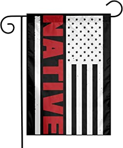 Native American Flag Decorative Large Holiday Yard Flags for All Seasons Holidays 18 X 12 Inches