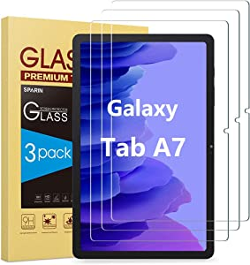[3-Pack] SPARIN Screen protector Compatible with Samsung Galaxy Tab A7 (10.4 Inch), 9H Hardness Tempered Glass/Anti-Scratch/High Definition/Bubble Free
