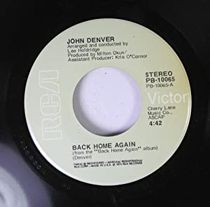 back home again / it's up to you 45 rpm single