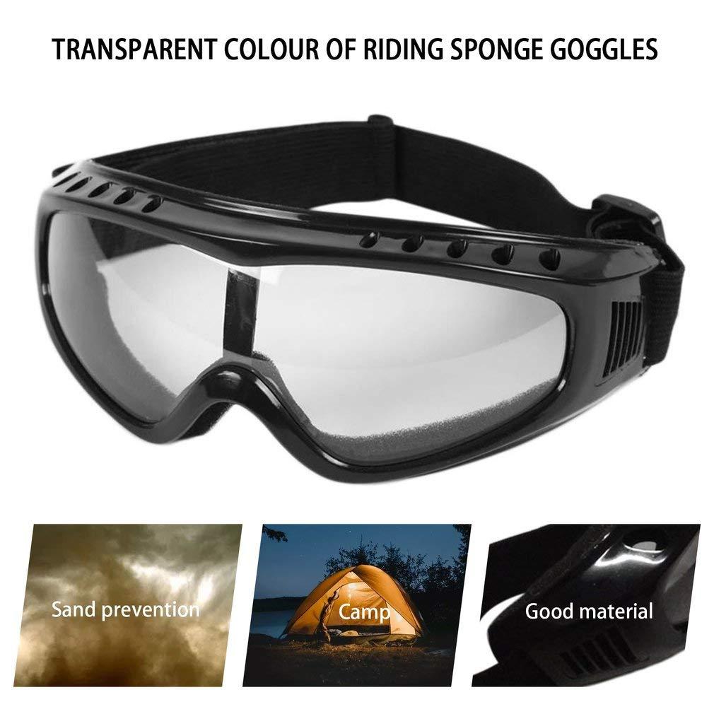 Airsoft Goggles Lunettes De Paintball Tactiques Vent Poussi/ère Protection De Moto Transparent