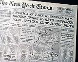 BATTLE OF KASSERINE PASS Tunisia Campaign Africa