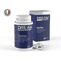 Dream Expert - 60 cpr - Notte - sonnifero naturale a base di Melatonina(1mg), Valeriana(256mg), Luppolo(128mg), Passiflora(85mg) e Vitamina B6(1,4mg) - Registrato al Ministero della Salute Italiano