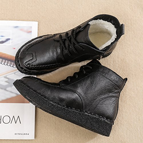Neige Avec Velours De Mère Bottes Chaussures Chaussures Plat L'Hiver Dans KHSKX black Ruban Vieux Souliers 40 Le Des De Chaud YxwZtFAq
