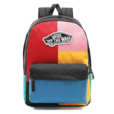 1a75a22411 Backpack Vans Realm Backpack Patchwork Black No size  Amazon.co.uk  Clothing