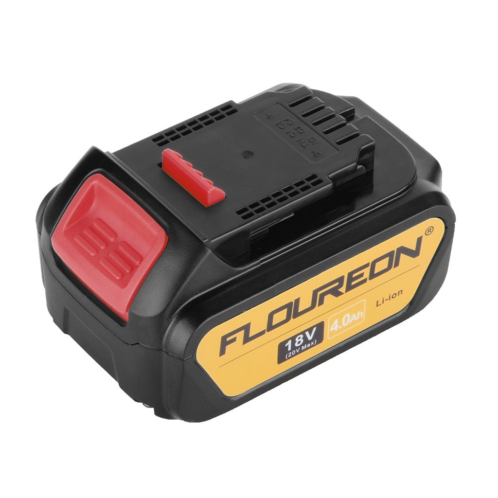 FLOUREON 4.0Ah 18V Li-ion Replacement Battery for DeWalt DCB201 DCB200 DCB180 DCB181 DCB182 DCB201-2 DCB200-2 DCB204-2 DCB205-2 Compatible with DEWALT 20V Max Power Tools (2pack)