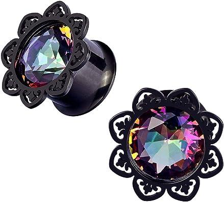 Amazon.com: Qmcandy 2 piercings de acero inoxidable con ...