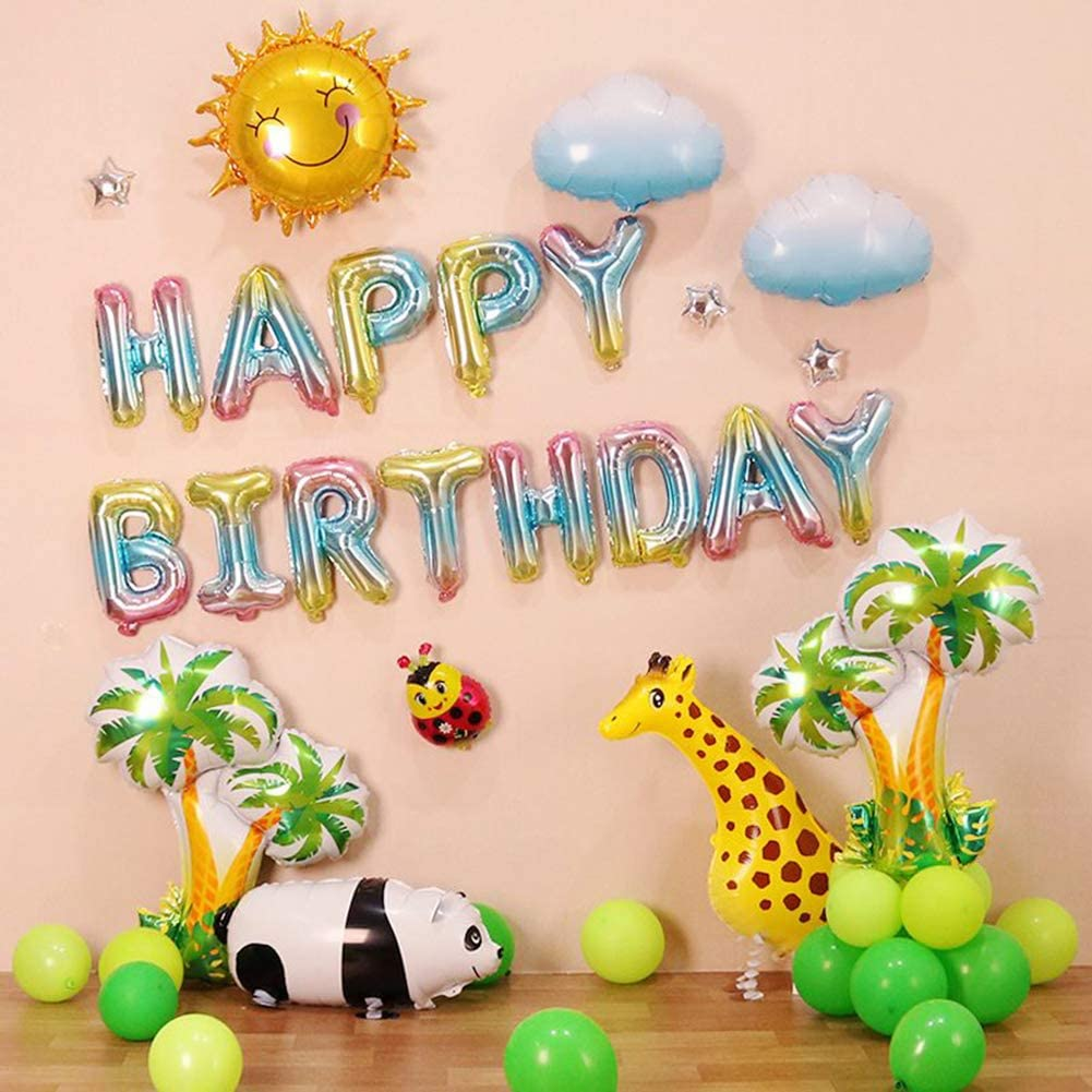 16 Inch Happy Birthday Balloons Letter Banner Foil Aluminum Party Supplies Decorations Colorful