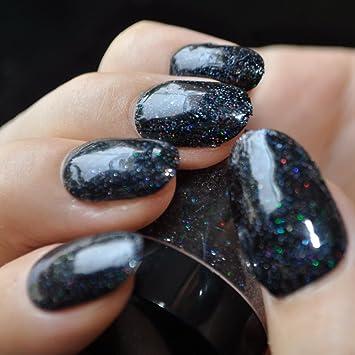 Amazon Black Holographic Glitter Powder Dust Nail Art Makeup