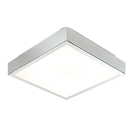 Saxby cubita 28w square 290mm chrome plated hf ip44 flush bathroom saxby cubita 28w square 290mm chrome plated hf ip44 flush bathroom ceiling light amazon kitchen home mozeypictures Choice Image