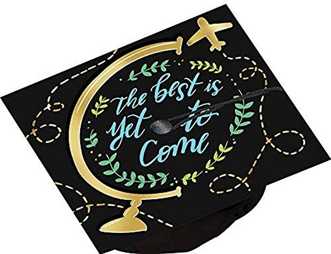 One Size Multicolor Amscan And So the Adventure Begins Graduation Cap Decorating Kit