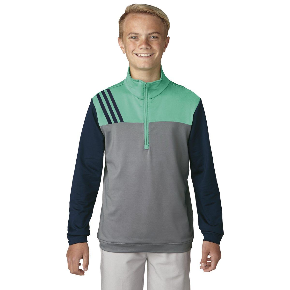 adidas Golf 3-Stripe Layering Jacket, Grey Three, Small