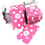 Sarira C 4x8 Inch Thank You Smile Pattern Bubble Mailers Poly Padded Envelope Mailers 50 Pack (4x8, Hot Pink)