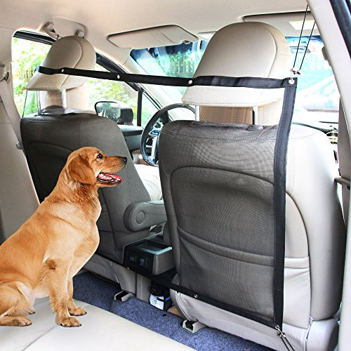 Mesh Car Barrier - KYC Dog Car Carrier Anti-collision Adjustable Mesh Net Barrier Auto Barrier Safety Isolation Net - Pet Protection in Cars