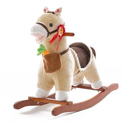 Cavallo Dondolo Per Bambini.Zcrfy Giochi Cavalcabili Cavallo Dondolo Legno Peluche