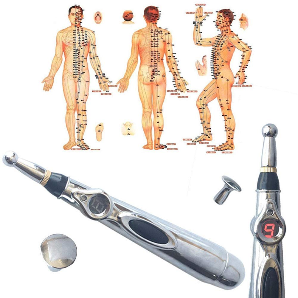 ACLBB Laser Acupuncture Pen, 9 Speed Moxibustion Acupoint Massage, 3 Health Care (Without AA Battery)