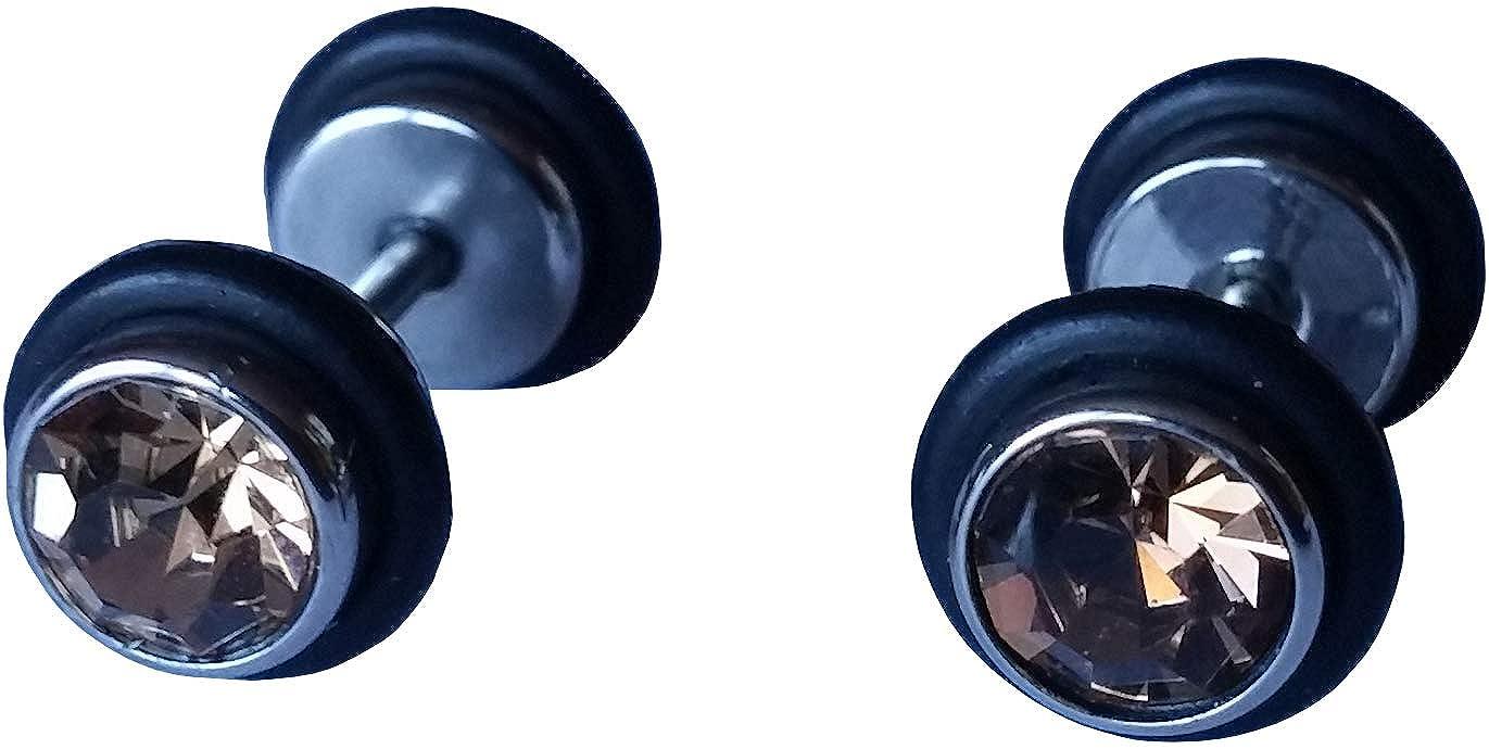 cameleon-shop - Pendientes de falso dilatador Plug - Acero ...
