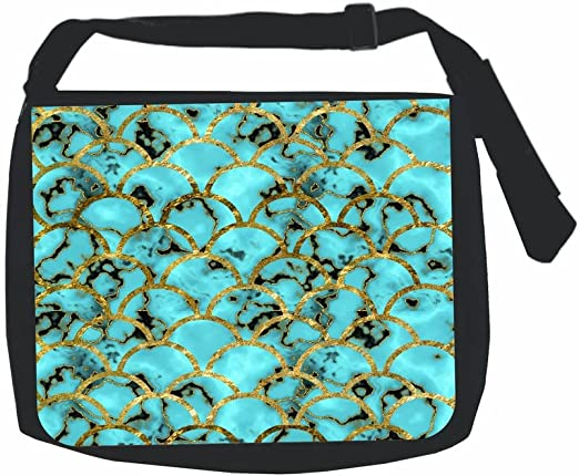 Blue Gilded Scallops TM School Backpack