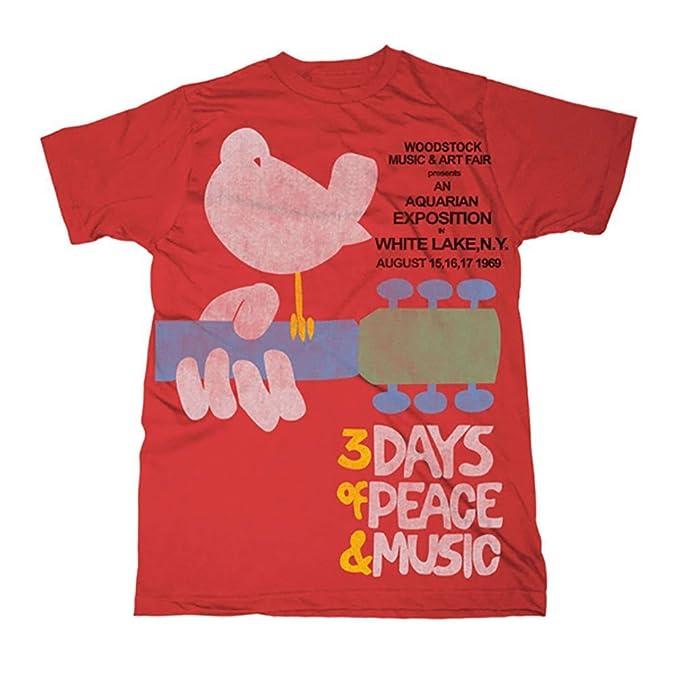 Amazon.com: Woodstock Festival Cartel de los hombres rojo 3 ...