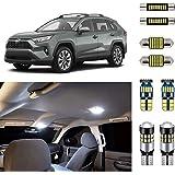 AUTOGINE White LED Interior Lights Kit for Toyota RAV4 2016 2017 2018 2019 2020 Super Bright 6000K Interior LED Lights…