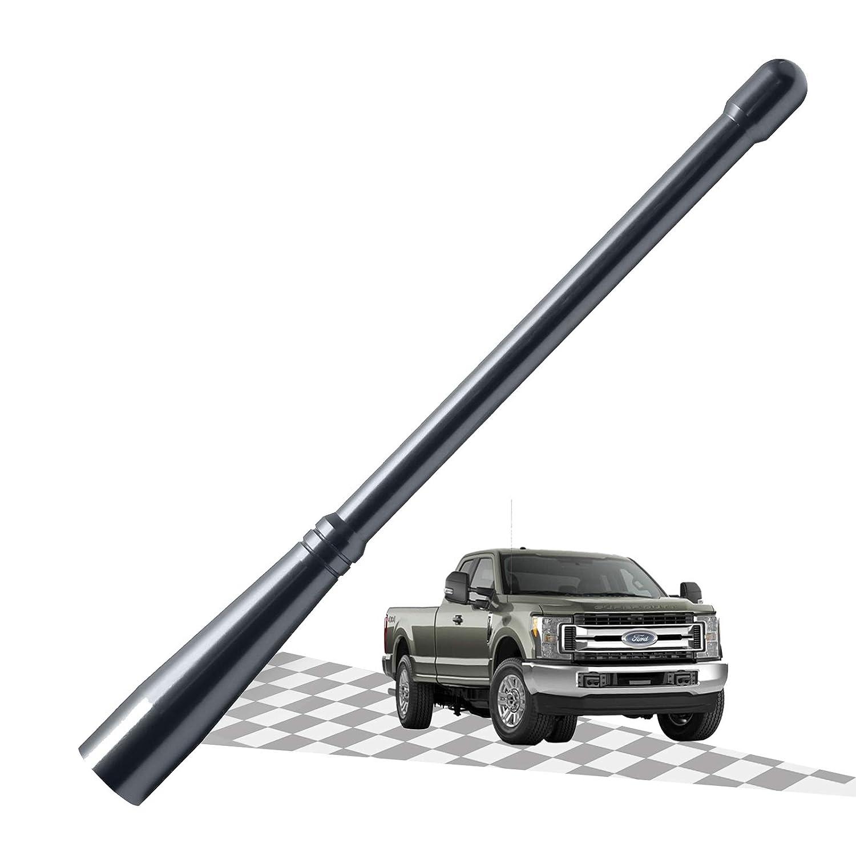 Silver/Titanium Elitezip Replacement Antenna for Dodge RAM 1500 2012-2018 Optimized AM//FM Reception with Tough Material 6.75 Inches