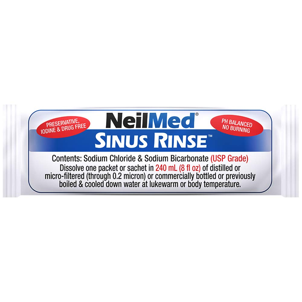 NeilMed Sinus Rinse All Natural Relief Premixed Refill Packets 100 Each Sinus Rinse All Natural Relief Premixed Refill Packets 100 Each: Amazon.es: Salud y ...