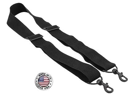 9de57526284d Made In USA Black Poly Webbing Replacement Travel Luggage Bag Adjustable  Shoulder Strap 1.5
